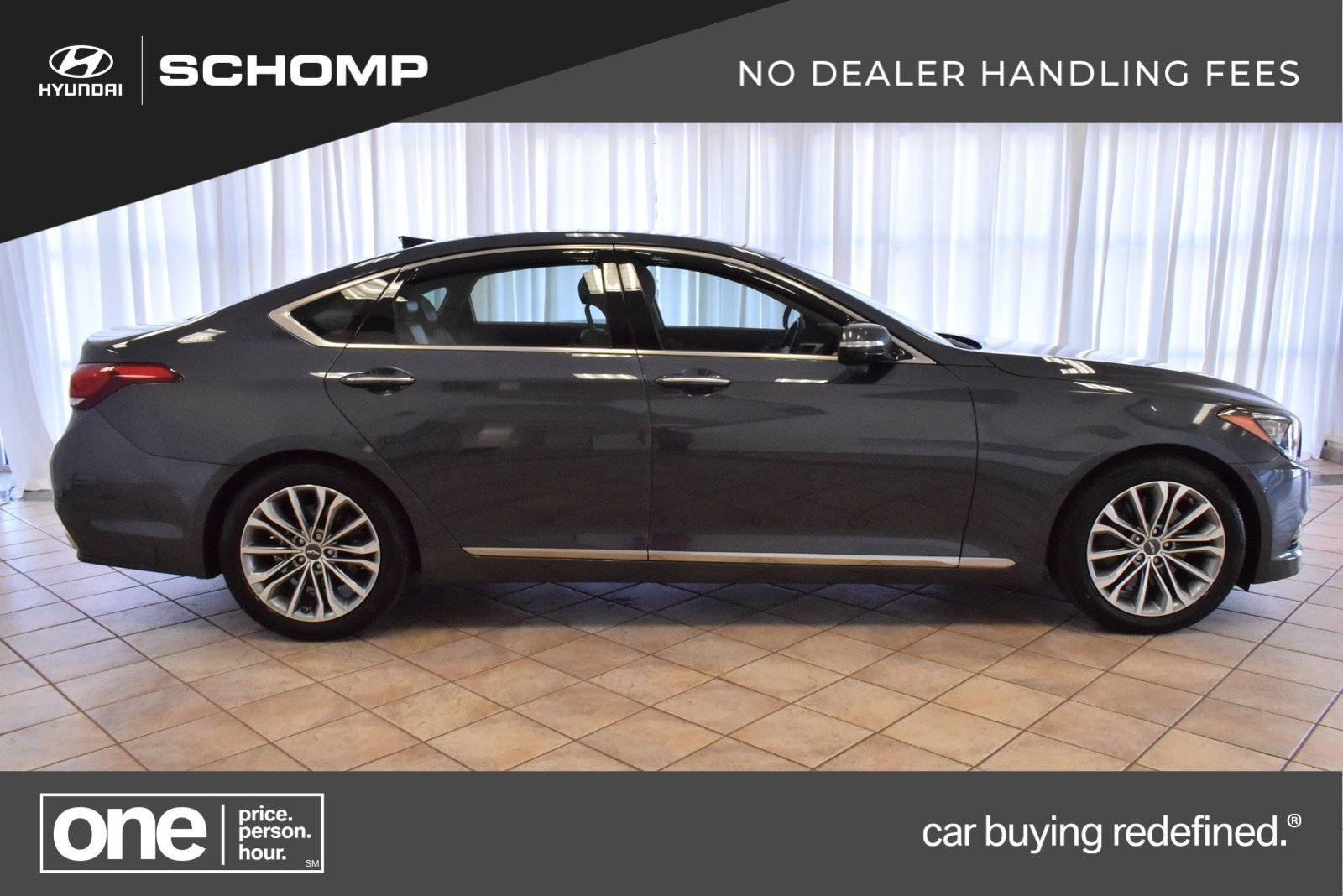 2017 Genesis G80 3.8 >> Pre Owned 2017 Genesis G80 3 8l With Navigation Awd